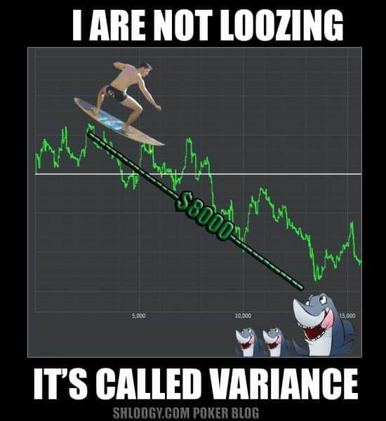 poker variance downswing