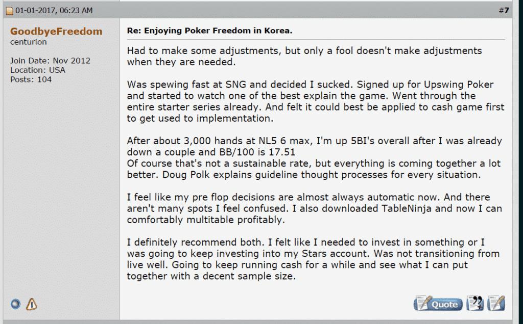 Testimonial from GoodbyeFreedom