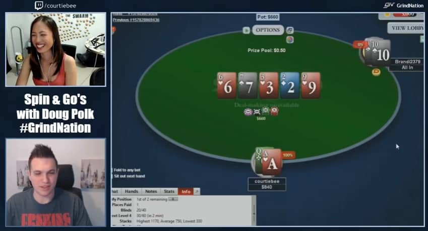 Brandi calls all-in with Ten-Four suited