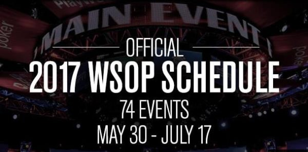 WSOP Official 2017 Schedule