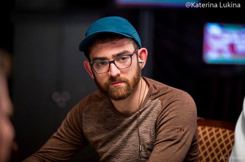 Dylan in the 25k PLO event at the WSOP