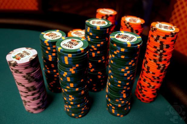 WSOP poker chip values
