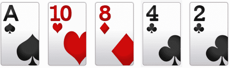 Poker Hand Rankings: High Card